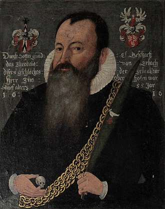 Erlach family - Diebold von Erlach also called Thiébaud d'Arlac and Theobald von Erlach, left for America in mid 16th century.