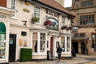 Thirsk is an important town for tourists with accommodation, restaurants and attractions Thirsk Black Bull 620.jpg