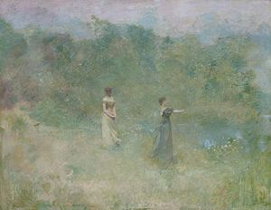 Thomas Dewing - Thomas Wilmer Dewing, Summer, 1890, Smithsonian American Art Museum