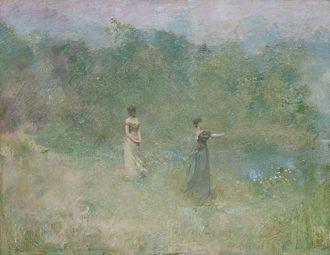 Thomas Dewing - Thomas Wilmer Dewing, Summer, 1890, Smithsonian American Art Museum