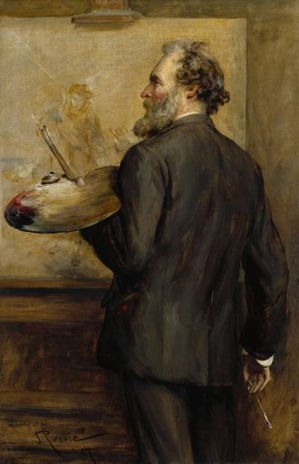 Thomas Faed - Thomas Faed (1887) by John Pettie