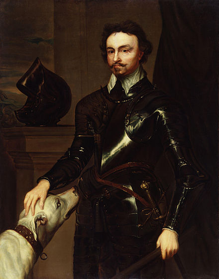 Thomas Wentworth, about 1639, portrait after van Dyck Thomas Wentworth, 1st Earl of Strafford by Sir Anthony Van Dyck (2).jpg