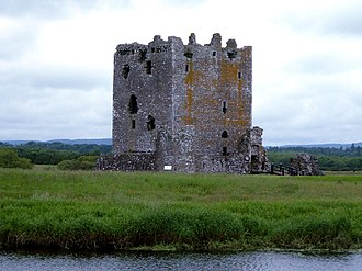 Donnchadh, Earl of Carrick - The Island of Dee, now the location of the late medieval Threave Castle, viewed from the south-east; it was probably this island that Uhtred retreated to when he was besieged by Donnchadh's brother Máel Coluim.
