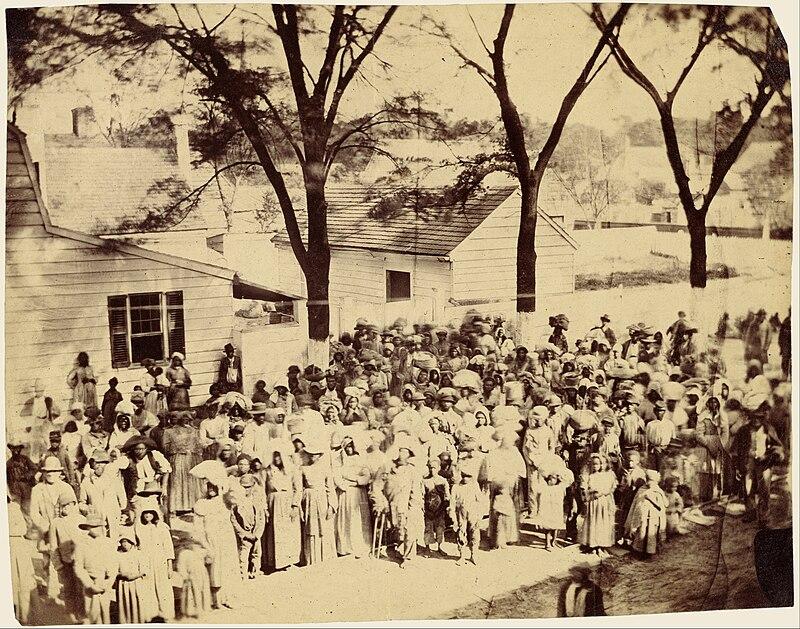 Timothy H. O%27Sullivan (American - Slaves, J. J. Smith%27s Plantation, South Carolina - Google Art Project.jpg