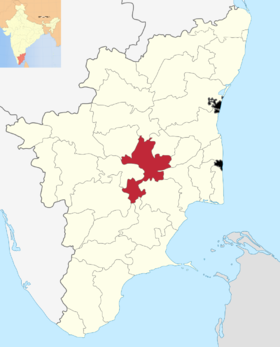 Localisation de District de Tiruchirappalli