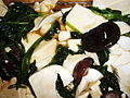 Tofu with spinach and mushrooms.JPG