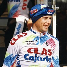 A rider wearing a jersey.