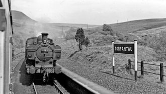 Brecon and Merthyr Tydfil Junction Railway - Torpantau station in 1957
