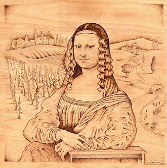 Pyrography - Image: Toscan Mona Lisa