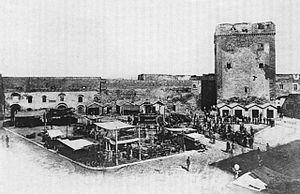 Orsini family - The Tower of Raimondello Orsini in Taranto, c. 1880.