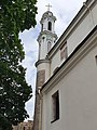 Tower of the Greek Catholic Church of Holy Trinity in Vilnius, Lithuania.jpg