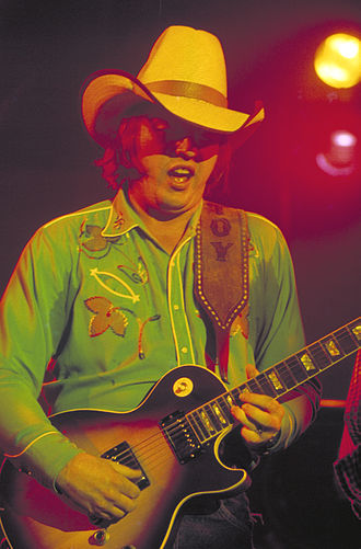 Toy Caldwell - Toy Caldwell during a 1974 concert.