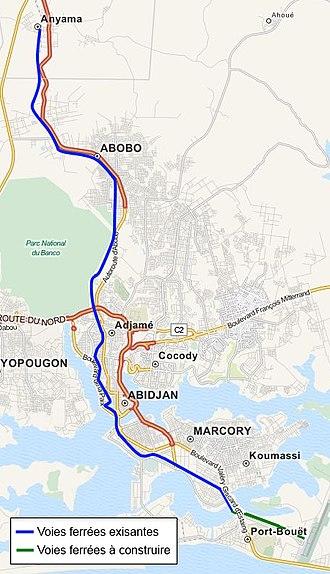 Transport in Ivory Coast - Urban traffic in Abidjan