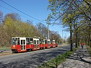 Trams in Toruń. Konstal 805Na. Apr. 2015.jpg