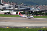 TransAsia Airways ATR 72-212A B-22820 Taking off from Taipei Songshan Airport 20150908.jpg