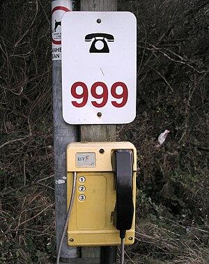 Emergency telephone - Emergency telephone on a beach  at Trefor in North Wales