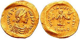 Justin I., Byzantinisches Reich, Kaiser