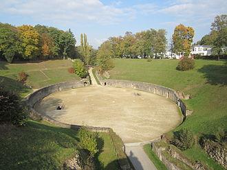 Trier Amphitheater - Trier Roman amphitheatre in October 2011