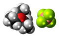 Triethyloxonium tetrafluoroborate 3D spacefill.png
