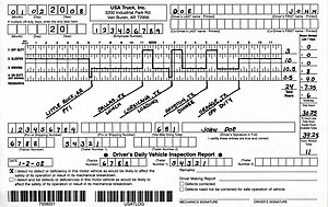 Trucking industry in the United States - Drivers are required to keep track of driving hours in a log book, using a time grid for each day along with information identifying the vehicle, driver, and company.