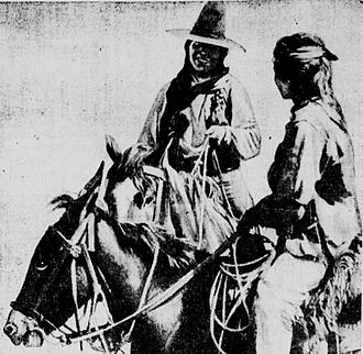 Picture taken by Zane Grey of Tse-ne-gat, one of the fighters during the Bluff War Tse-ne-gat son of the Paiute Chief Polk Utah Summer 1914 by Zane Grey.jpg