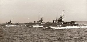 USS Liberty incident - Israeli Motor Torpedo Boats (MTBs) in formation, circa 1967.  These were the MTBs that attacked USS Liberty.