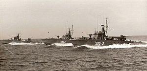 Motor Torpedo Boat - Israeli MTB formation, circa 1967