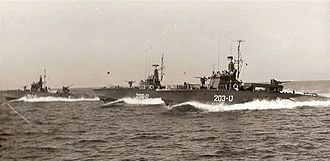 Israeli Navy - Torpedo boats of the Israeli Navy. Built by Chantiers Navals de Meulan, France.