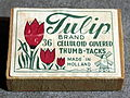 Tulip brand, 36 Celluloid Covered Thumb-Tacks.JPG
