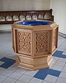 Tullow Church of the Most Holy Rosary Baptismal Font 2013 09 06.jpg