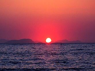 Turgutreis - Image: Turgutreis sunset 1