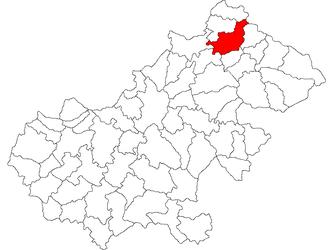 Turț - Location of Turț in Satu Mare County