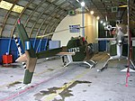 Two Agusta Bell Jet Ranger IIs in the hangar at Alexandria..jpg