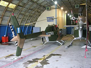 Two Agusta Bell Jet Ranger IIs in the hangar at Alexandria..jpg