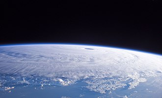 Tropical cyclone - Typhoon Nabi as seen from the International Space Station, on September 3, 2005.