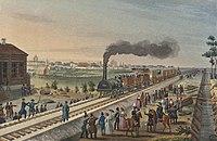 Tzarskoselskaya Railway - Watercolour