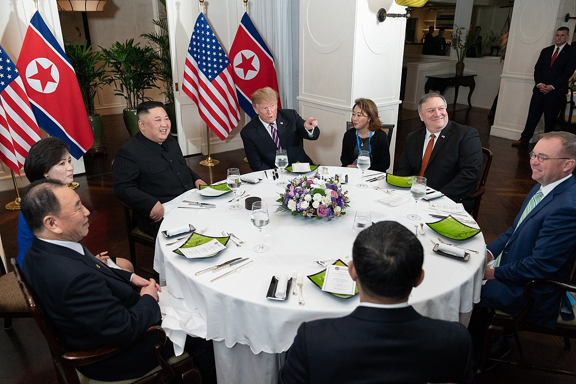U.S.-DPRK delegation having dinner during Hanoi Summit.jpg