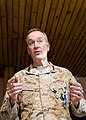 U.S. Marine Corps Gen. Joseph F. Dunford Jr., the outgoing commander of the International Security Assistance Force and U.S. Forces-Afghanistan, delivers remarks during a change of command ceremony in Kabul 140826-D-HU462-397.jpg