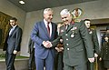 U.S. Secretary of Defense Chuck Hagel, center left, says goodbye to Turkish army Gen. Necdet Özel, the chief of the general staff of the Turkish military, after a meeting in Ankara, Turkey, Sept 140908-D-NI589-613.jpg