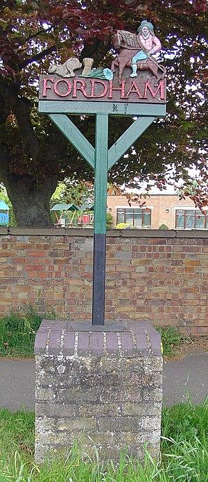 Fordham, Cambridgeshire - Signpost in Fordham