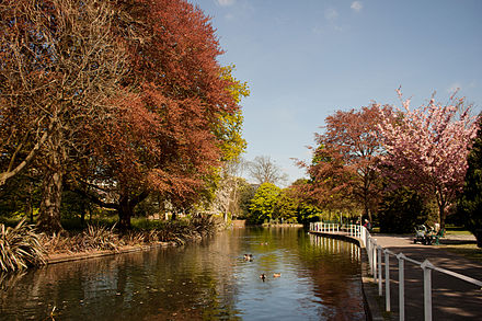 The River Wandle, Carshalton, in the London Borough of Sutton UK London - River Wandle, Carshalton.jpg