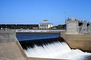 Tom Bevill Lock & Dam on the Tennessee-Tombigb...