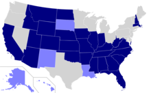 Map of United States Official Language Status By State
