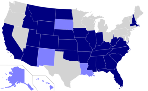 US states where English is an official language