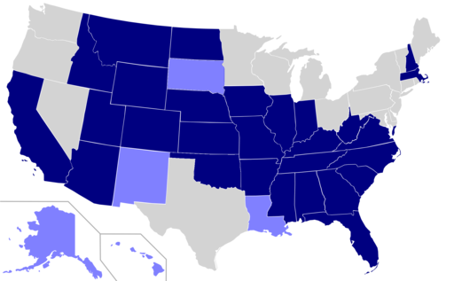 USA states english official language