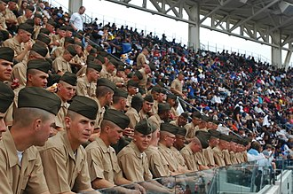 San Diego Padres - Recruits from Marine Corps Recruit Depot San Diego at Petco Park