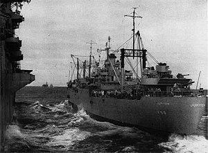 USS Jupiter (AVS-8) from CV-31 off Korea 1951.jpg