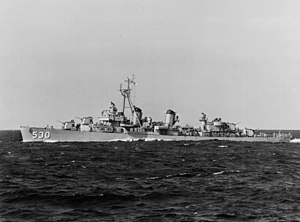 USS Trathen (DD-530) - Trathen at sea on 3 September 1952.