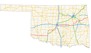 US Route In Oklahoma Wikipedia - Oklahoma in us map