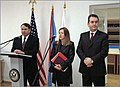 US Ambassador William D. Montgomery and Mayor of Podgorica Miomir Mugoša, 2003.jpg